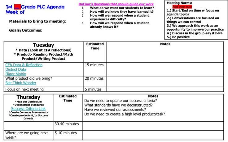 19.20 PLC Master Agenda